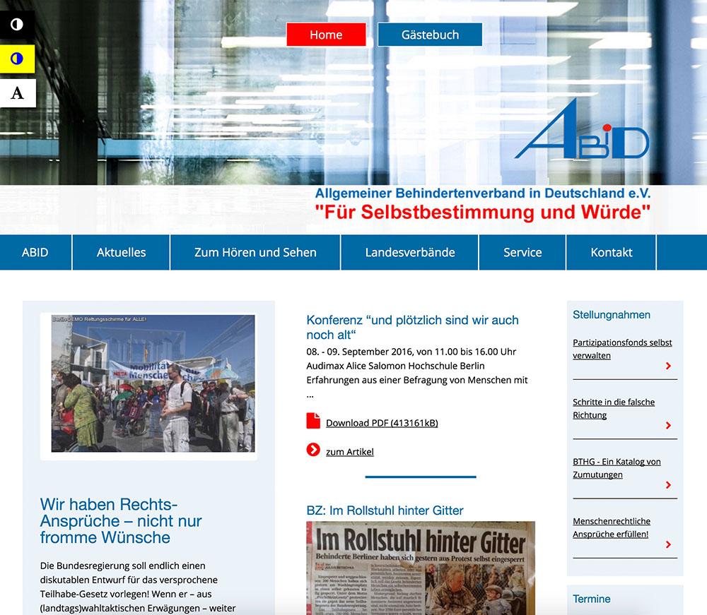ABID // Allgemeiner Behindertenverband in Deutschland e.V.