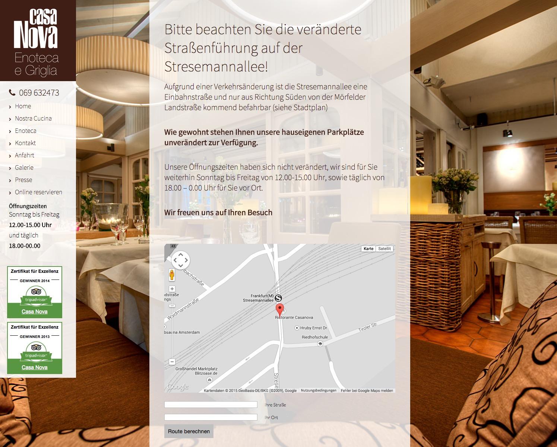 Casa Nova, Restaurant