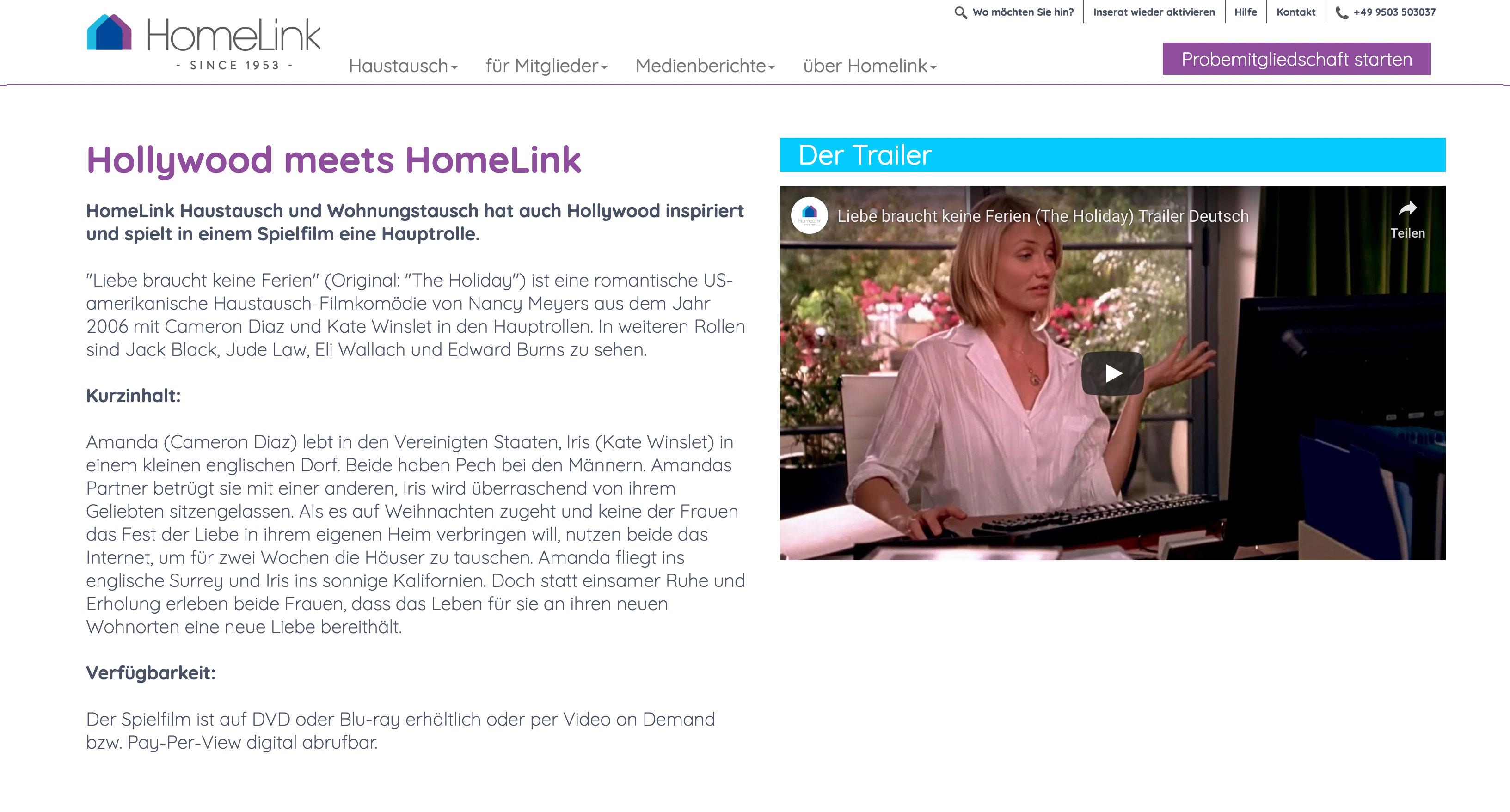 Homelink // Wohnungstausch